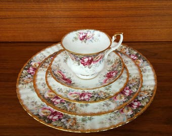 Autumn Rose Five Piece Place Setting   Royal Albert Place Setting Two Available Sold & Autumn dinnerware   Etsy