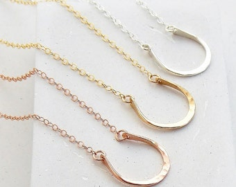 Best Friend Gift | Horseshoe Horse Dainty Necklace Gift for Her, Friendship Necklace, Best Friend Necklace, Silver, Gold, Rose Gold
