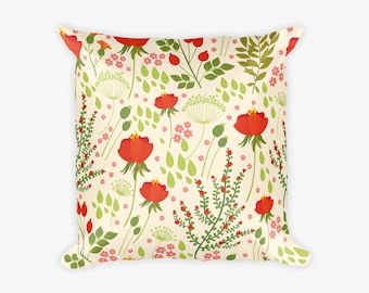 Flower Pattern Pillow Case
