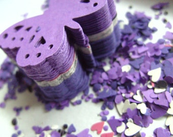 100,PURPLE,Paper butterflies,  confetti, scrap booking, paper craft, card making, tags , by DoodleDee2