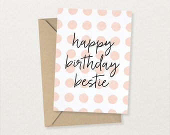 Birthday Card - Birthday Card for Friend - Birthday Card for Best Friend - Birthday Card for Girl - Free UK Delivery