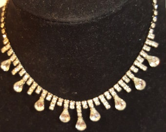 FREE  SHIPPPING  1950 Diamond Rhinestone Necklace