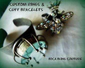 Custom Paperweight Cuff Bracelet