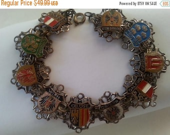 ON SALE Vintage Austrian Bracelet * Lion Shield Dragon Eagle Bracelet * 1930'a 1940's Vintage Jewelry