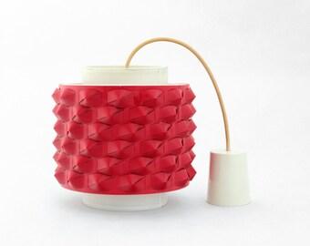 Vintage Hanging Lamp, Red hanging light, Vintage Pendant lighting from 1970s