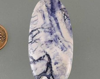 ON SALE Tiffany Stone Cabochon, Bertrandite Cabochon, Designer Tiffany Stone Cab, Purple Pendant Cab, Gift Cab, C2914, Hand Cut by 49erMiner