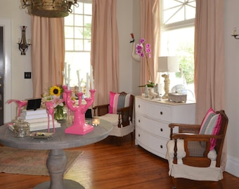 Custom SouthernLuxe Linen Drapery Panel | Fabric Included