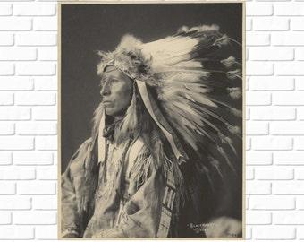 Blackheart Sioux-  Frank A. Rinehart - 1898 - Photo - Vintage - Antique - Native American - Print - Photograph - History