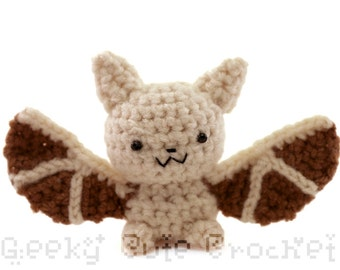Pallid Bat Amigurumi Crochet Plush Toy Stuffed Animal