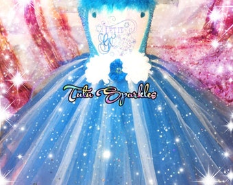 Let it go ice princess tutu dress