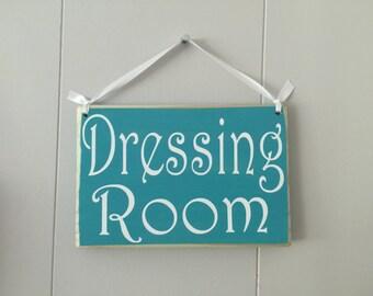 Dressing Room 8x6 (Choose Color) Salon Shop Retail Store Custom Rustic Shabby Chic Wood Spa Sign