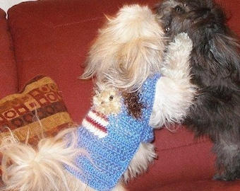 FUZZY WUZ a POOCH Boy or Girl sweater - Many colors -Westie face avail-2 to 20 lb dogs