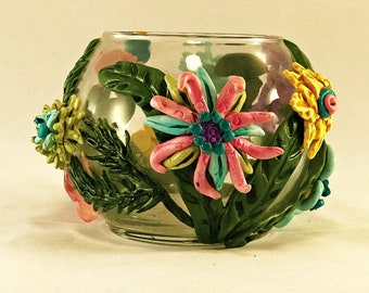 Wimsical Fantasy Glass Candle Holder