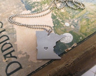 The Bettie Necklace - Minnesota Love Pendant  or Key Chain
