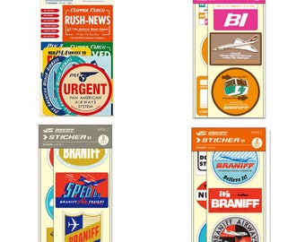 Travelers Notebook Seals x Braniff and PanAm