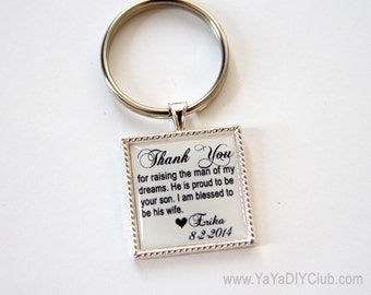wedding gift for mother of the groom from bride, mother of groom gift, mother in law gift, mother in law gift, custom quote keychain