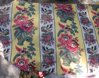"10 yards unused waverly fabric, rochelle pattern gorgeous, 55""W drapes pillows etc"
