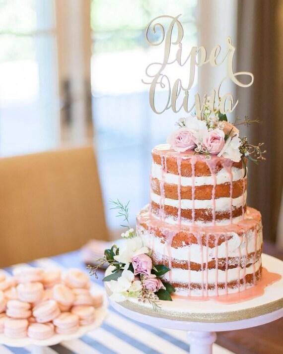 Personalized Name Cake Topper, Wedding Cake Topper, Engagement Cake Topper, Bridal Shower Cake Topper, Birthday Cake Topper