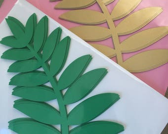 """11"""" long paper Fern leaves for your DIY paper flowers. Backdrop, paper flower walls, paper flowers. Set of 12"""