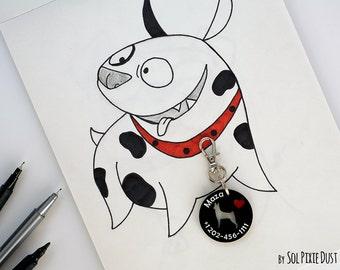 Dog Tag - Basenji - Personalized Pet ID, Pet Accessory