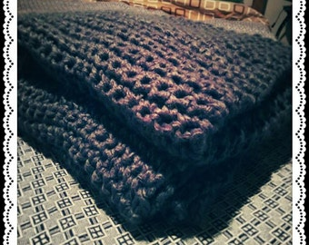 Winter Wonderland Blanket; Chunky Blanket