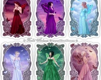 Birthstone Fairy Sticker Set - You Choose the Art