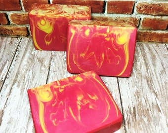 Raspberry Jam Scented Soap, Handmade Soap, Cold Process Soap, Bar Soap, Artisan Soap