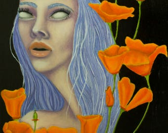 """PRINT """"Ode to Spring: California Poppies"""""""