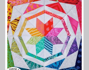 Simple Celestial #229 - 24 inch - Paper Pieced Quilt Pattern - Formatted for Legal Size Paper ONLY!!