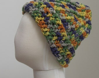 Bright mixed variegated yarn hat M (T3-T4)