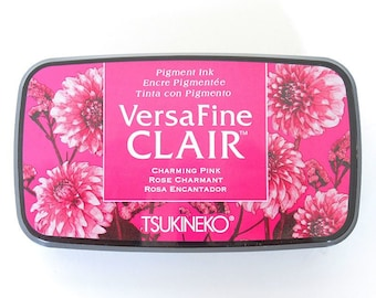 """Versafine Clair Ink Pad """"Charming Pink"""" pink ink pad by Tsukineko - The BEST ink for Detailed Rubber Stamps"""