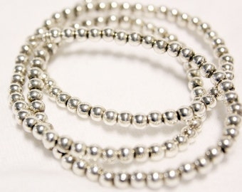 5mm Sterling Silver Ball Chain Stamped 925 Italy 15inches