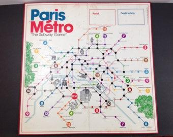 Paris Metro Board Game BOARD ONLY Vintage 1981 Ephemera