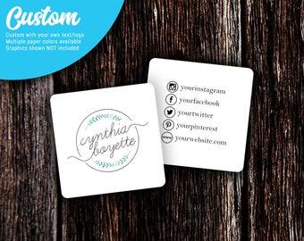 Social Media Cards | Custom Business Cards | Mommy Calling Cards | Social Media Cards | SH002BU