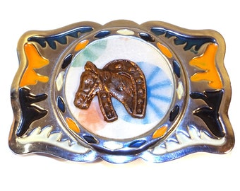 Funky Retro Vintage Hebillas Acuario Motion Card Western Belt Buckle