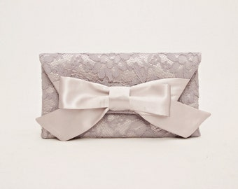 Big sale - Silver grey  clutch bridesmaid gift  envelop clutch wedding clutch,Evening bag,fits Iphone 7 plus