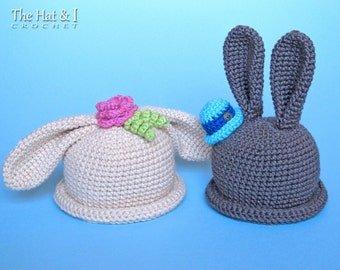 CROCHET PATTERN - Some Bunny Hat - bunny hat pattern for boys & girls, crochet hat pattern (Infant - Adult sizes) - Instant PDF Download
