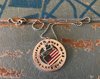 America. My home Way from home necklace