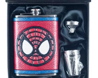 Spider-Man Inspired Geek Flask Set