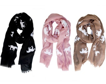 Horse Scarf Pattern Light-Weight Fashion Scarf