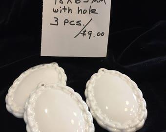 ceramic cabochon pendant #027