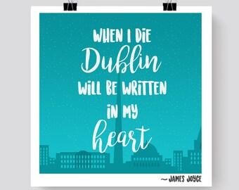 James Joyce Dublin Print