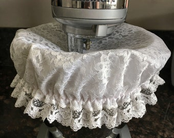 Chic mixing bowl cover/white reusuable bowl cover