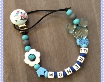 Pacifier clip personalized Pearl name choice