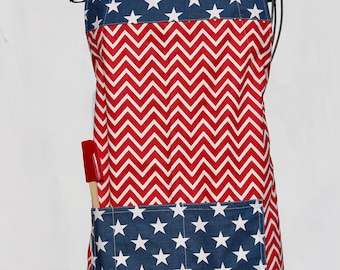 American Flag Women's Adjustable Chef Apron