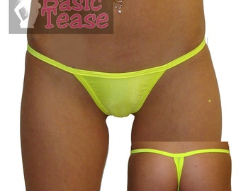 Wide Front Low Rise Stripper Thong / Exotic Dance Wear / Full Coverage Micro Thongs / Exotic Dancer / Stripper Clothes / Stripper / Thong