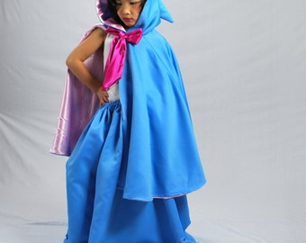 Fairy Godmother Skirt and Cape, Child Size 2-12