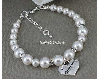 Grandma Bracelet Grandma Gift Swarovski Bracelet Grandmother Jewelry Grandma Gift for Wedding Bridal Party Jewelry Idea Thank You Gift