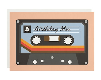 Birthday Mix Tape Greetings Card