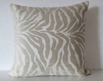 Tiger stripes cream muted beige decorative throw pillow cover